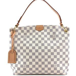 Shoulder One Handle Graceful Pm White Damier Hobo